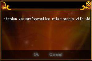 Abandoning a Master & Apprentice Relationshop