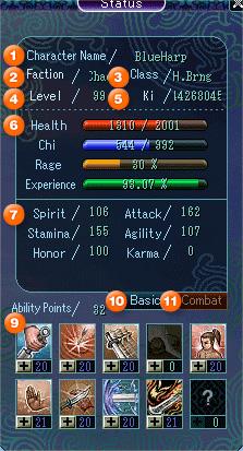 Character Status Window Basic