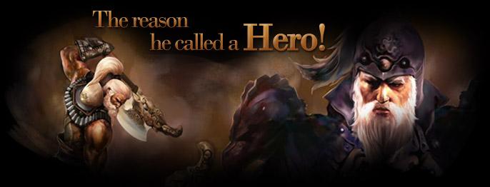 The reason he called a Hero!