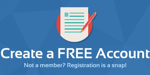 Create a FREE Account Not a member? Registration is a snap!